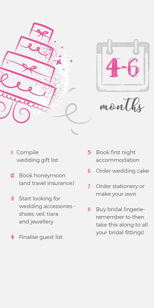 Wedding Checklist 4-6 Months