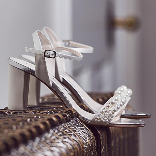 Clara - Pearl Details Wedding Sandals