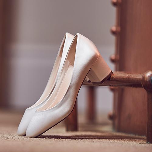 Serenity - Low Heel Wedding Court Shoe