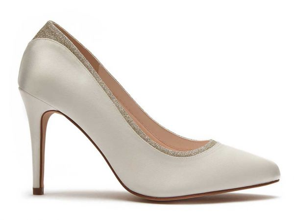 Billie - Ivory Shimmer Wide Fitting Bridal Shoes
