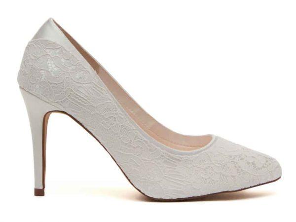 Billie - Ivory Satin & Luxury Lace Court Shoe