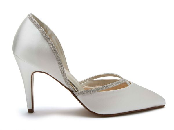 Georgia - Chic Satin & Shimmer Court Shoes