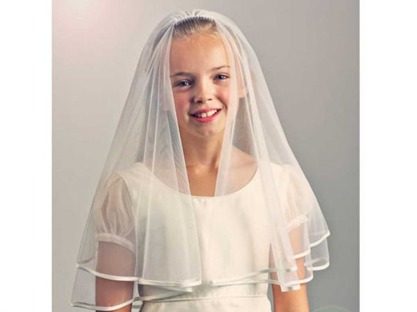 Honeybird - Satin Edge Communion Veil