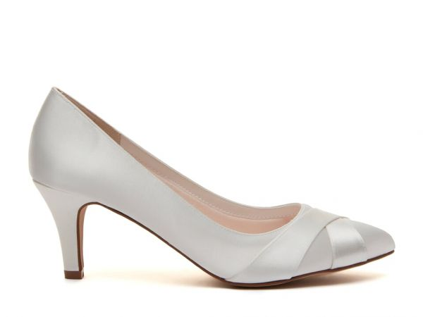 Lexi - Ivory Satin Wedding Court Shoes