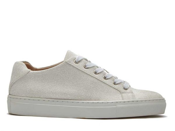 Millie - Ivory Shimmer Wedding Trainers