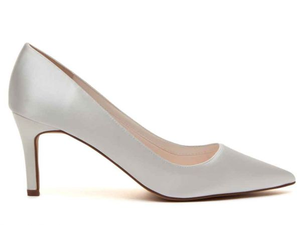 Beautiful Classic Court Wedding Shoes - Morgan have a sleek silhouette and mid-height