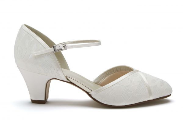 Shirley - Classic Lace Wide Fit Court Shoes