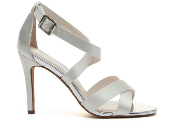 Reese - Ivory Satin Wedding Sandals
