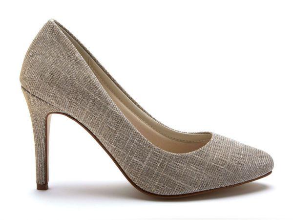 Twiggy - Sparkly Metallic Court Shoes