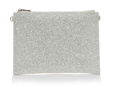 Arizona - Silver Snow Glitter Wedding Handbag
