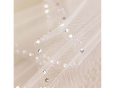 BonBon - Sequin and Pearl Edge Communion Veil