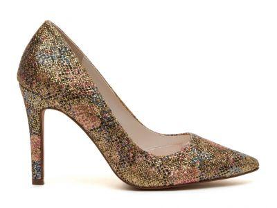 Coco - Gold Glitter Bomb Court Shoe