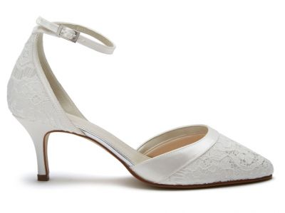 Darcey - Ivory Lace Two-Part Court Shoe