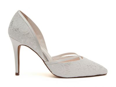 Georgia - Ivory Satin & Luxury Lace Court Shoes