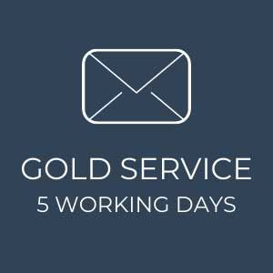 Gold Service – 5 Working Days