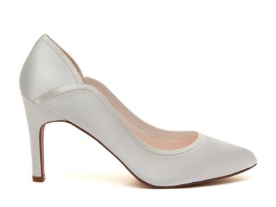 Lucy - Ivory Satin Court Shoes