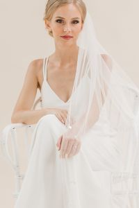 Moonflower - Scattered Pearl Long Veil