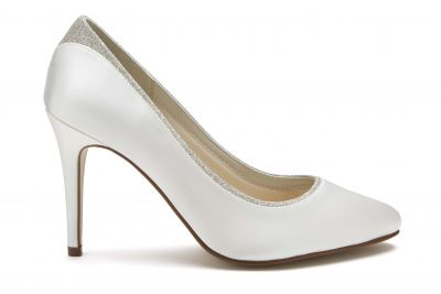 Billie - Ivory Shimmer Bridal Court Shoes