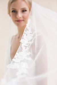 Rose - Floral Lace Long Veil