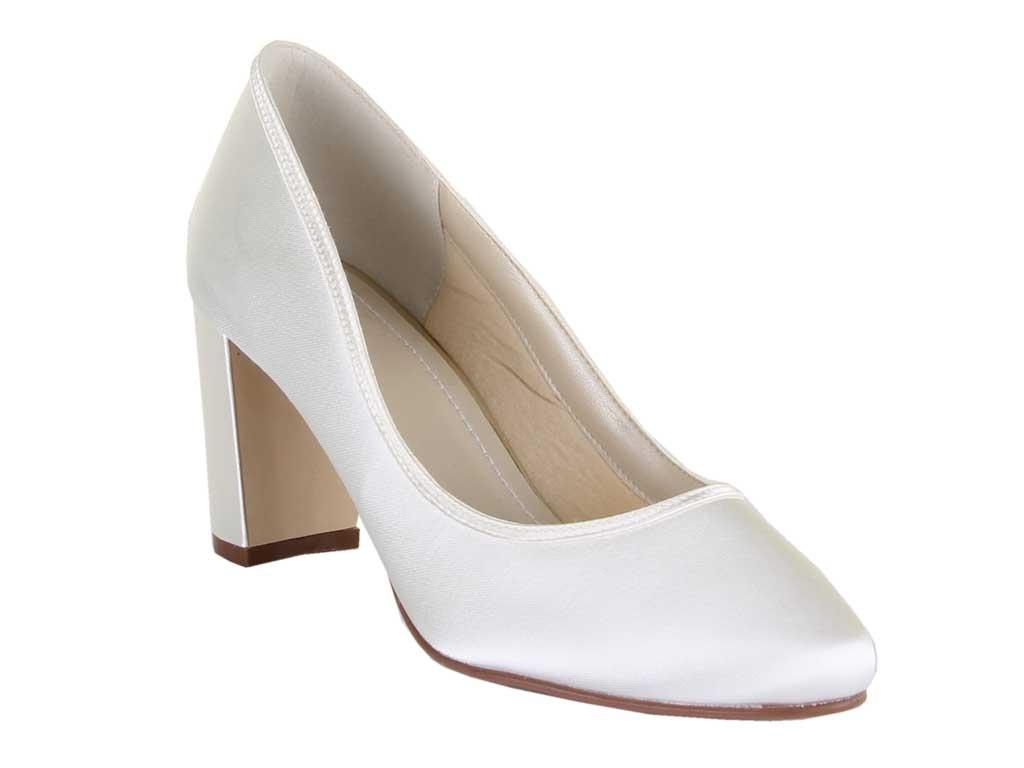 Rainbow Club Florence Ivory Satin Women Wedding Shoe UK Size 3 8