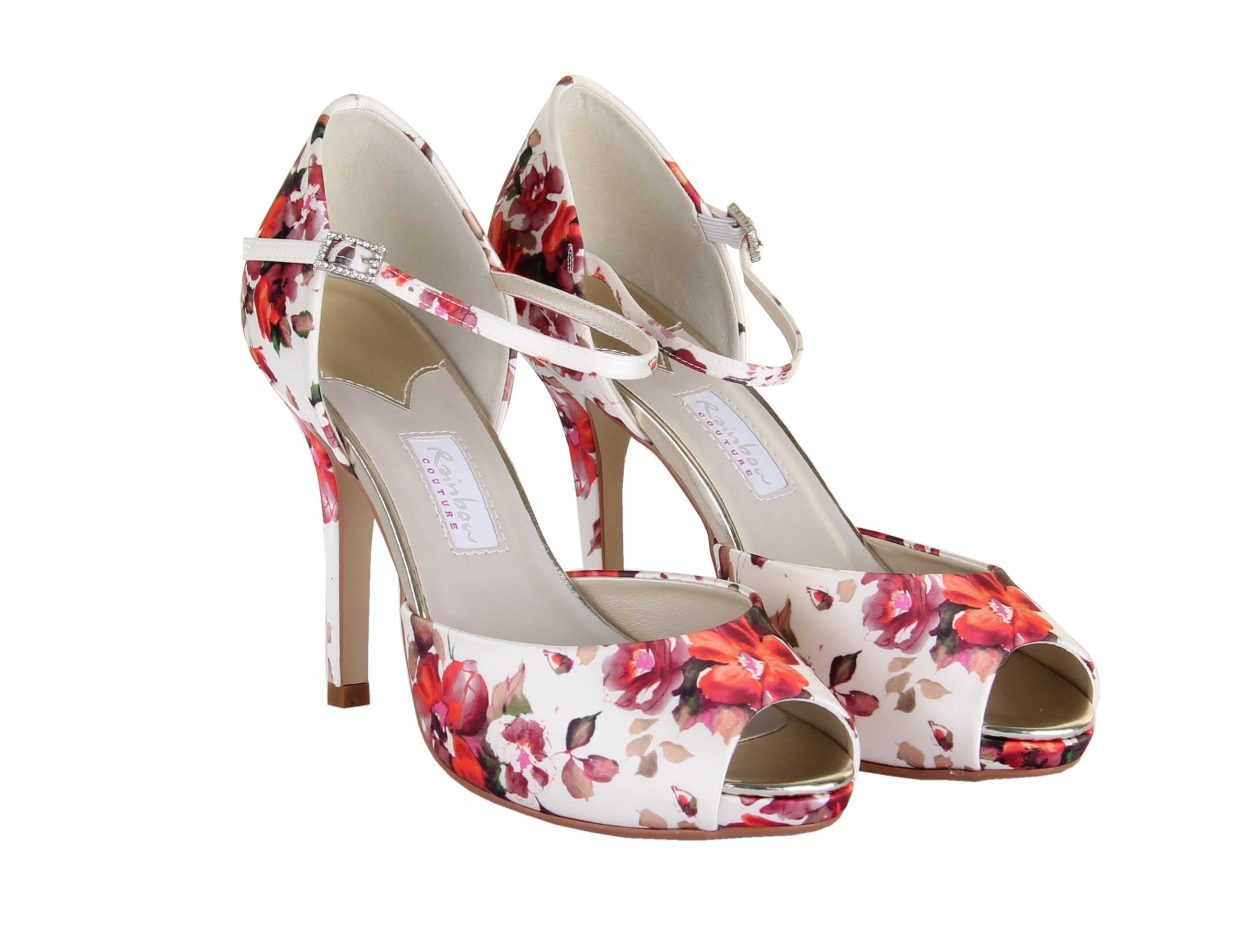 83ea44a73567 Rainbow Club Gabriella Floral Satin Women Peep Toe Shoe UK Size 3-8 ...