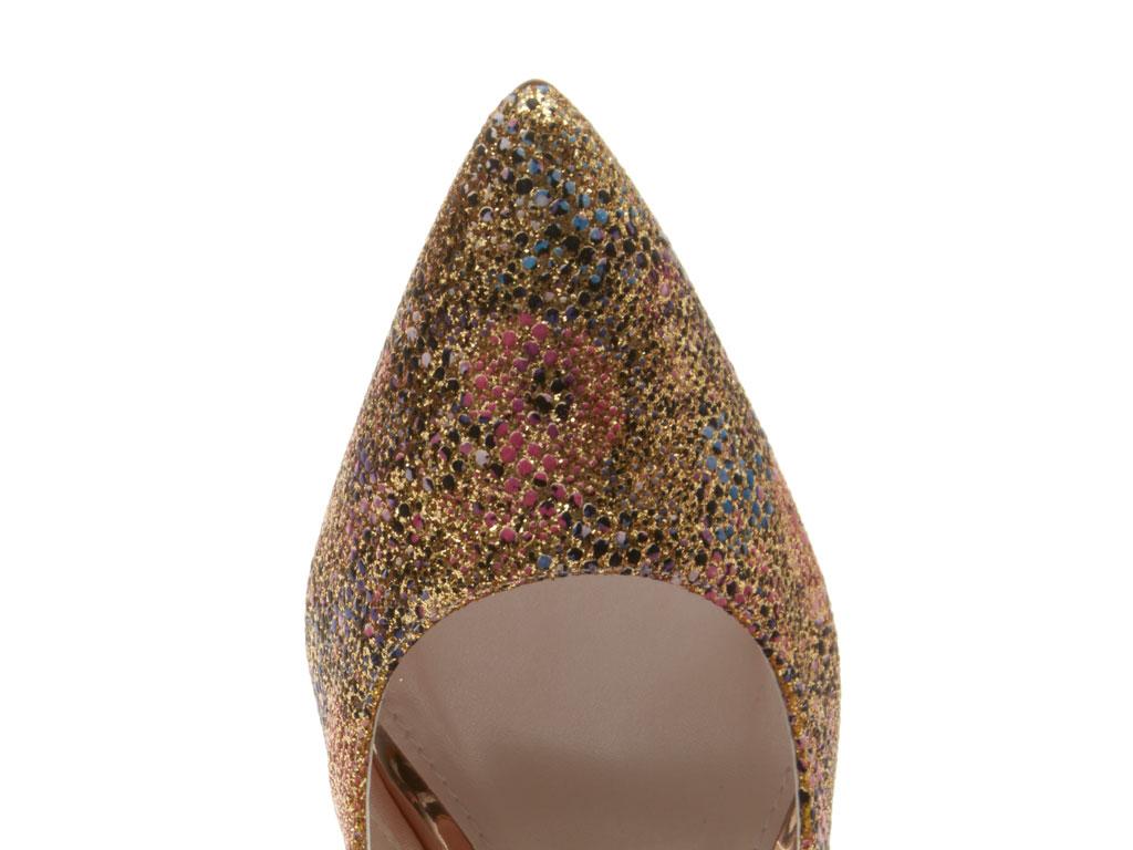 Morgan - Gold Glitter Bomb Court Shoes