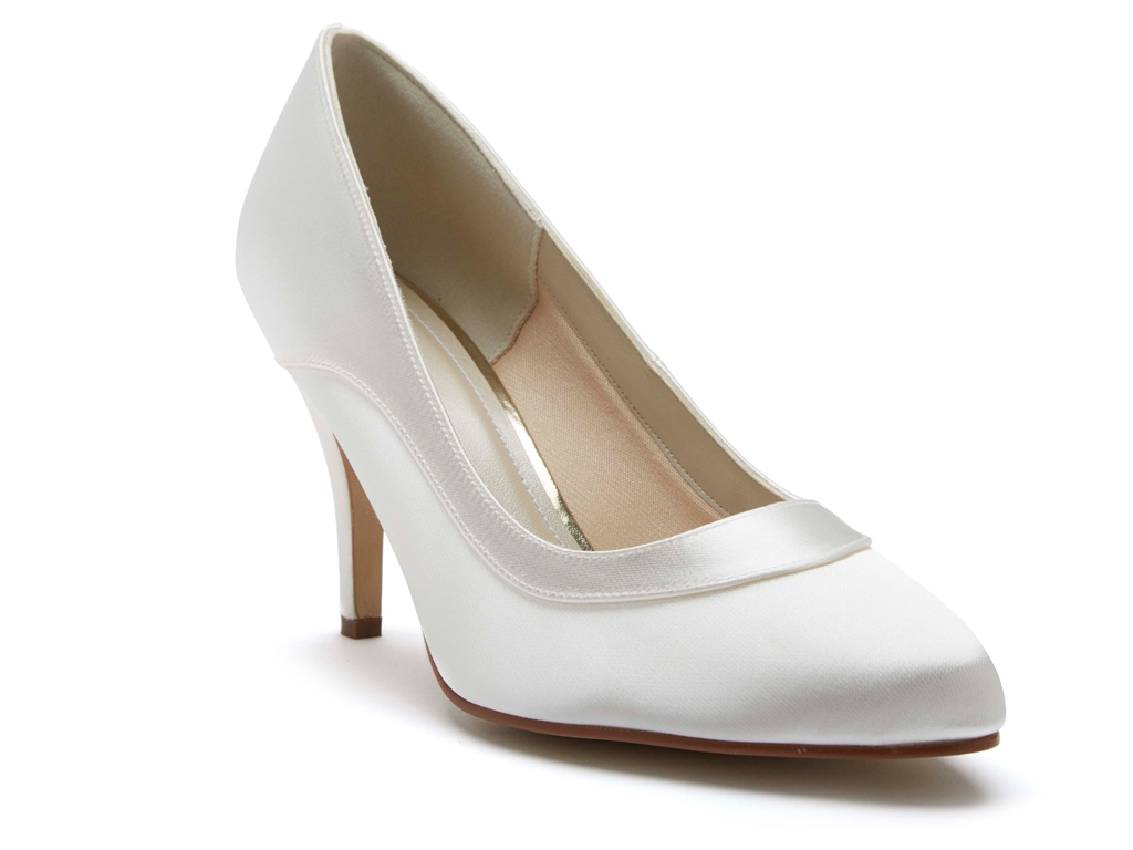 b25f72e43b Rainbow Club Nicole - Ivory Satin Elegant Court Wedding Shoes ...