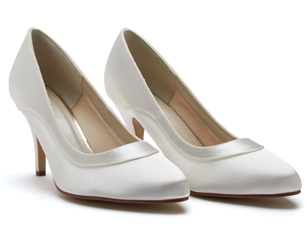 06f9d53708 Rainbow Club Nicole - Ivory Satin Elegant Court Wedding Shoes - Rainbow Club