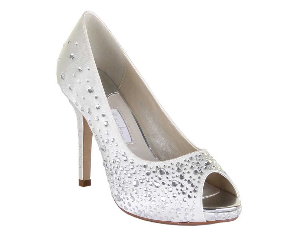 Orvietto has a daring name for an edgy shoe! A peep toe shoe that is  adorned with gleaming diamantés for an ultra-modern look. 4cc2388675f8