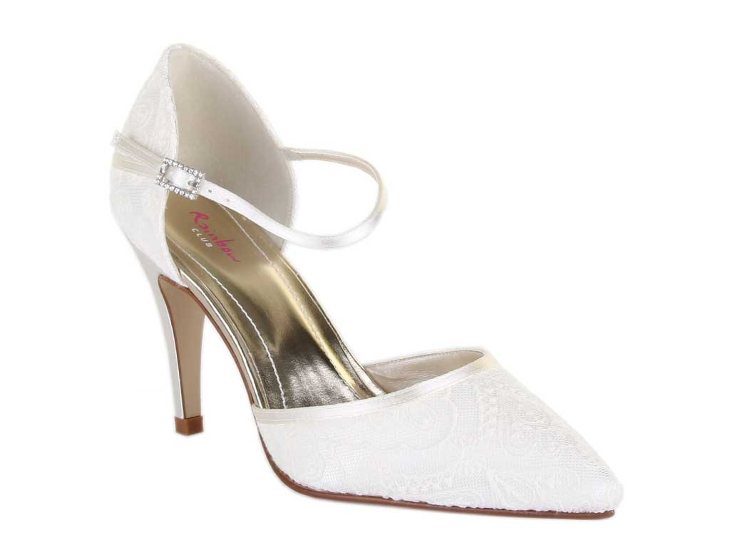 Rainbow Club Tierney Ivory Lace Women Wedding Shoe UK Size 3 8